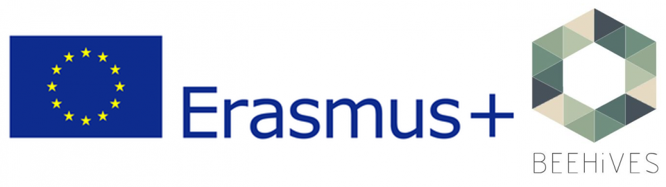 Logo Beehives and Erasmus+